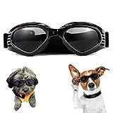 WELLXUNK Hunde Sonnenbrille Verstellbarer Riemen für UV-Sonnenbrillen Wasserdichter Schutz für...