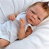 XYSQWZ Realistische Handpuppe 18 Zoll / 46 cm Silikon Rand Baby Puppe Mädchen Jungen Mini-Puppe...