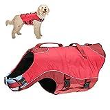 Kurgo K01139 Hunde Schwimmweste - Surf n' Turf - Regenmantel Hund - Reflektierende Schwimmweste für...