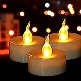 HANZIM LED Kerzen, 50 PACK LED Teelichter Kerzen flammenlos hell blinkend elektrische Gefälschte...
