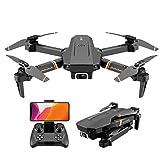 Drohne mit 4K HD-Kamera für Erwachsene, Faltbare WiFi-FPV-Live-Video-Drohne Rückkehr nach Hause 18...