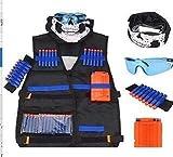 MX Kids Tactical Vest,Vest Kit Kids for Nerf Guns N-Strike Elite Series with 1Pcs 8-Dart Wrist Band...
