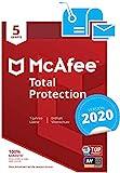 McAfee Total Protection 2020 | 5 Gerte | 1 Jahr | PC/Mac/Smartphone/Tablet | Aktivierungscode per...