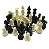 Deniseonuk Mittelalterliche Schachfiguren/Plastik Komplette Schachfiguren International Word Chess...