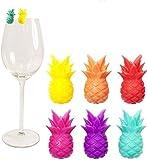 Yardwe 12pcs Glasmarkierer Ananas Getränkemarker Silkon Obst Glas Markierung Markierung für Glas...