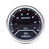 Unbekannt LZP-PP 2' 52mm 12V Auto Ölpresse Spur 0-7Bar Öldruck Guage mit Sensor Rauch-Objektiv...
