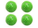 WIFUN 4 Stück grüne Trocknerbälle, wiederverwendbare Waschbälle, Wäsche, Trocknerbälle für...