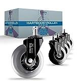 SCHUSTAR USES ® Premium Hartbodenrollen [5]er Set – Bürostuhlrollen für alle Fußböden...