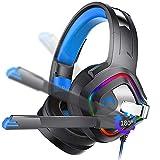 XIEXJ E-Sport-Spiel-Kopfhörer, Headset-Kopfhörer Mit Bändchenmikrofon Desktop-Notebook Telefon...