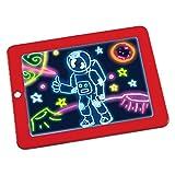 Lernen pädagogisches Spielzeug LED Schreibtafel 3D Magic Drawing Pad Kreative Kinder Zeichnung...