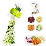 Opard Spiralschneider Hand für Gemüsespaghetti, 4 in1 Gemüseschneider,Gemüse Spiralschneider...