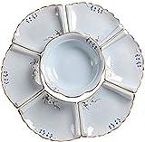 FTYYSWL Kombiservice Porzellan Geschirr Set Schüssel/Dessertteller/Suppenteller/Speiseteller...