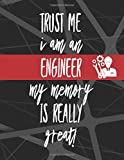 Trust Me I Am An Engineer My Memory Is Really Great: Password Book With Alphabetical Tabs, Premium...