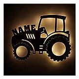 Geschenkidee I Nachtlicht Traktor V5 personalisiert mit Namen für Kinder und Erwachsene