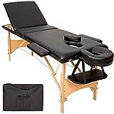 TecTake Mobile Massageliege 3 Zonen höhenverstellbar inkl. hochwertiger Kopfstütze + Tasche -...