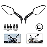 Motorrad Rückspiegel Universal 8mm 10mm Motorrad Spiegel E-Prüfzeichen Rückseitenspiegel...