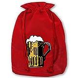 Hangdachang Oktoberfest Bier Weihnachten Kordelzug Tasche Kein Problem Lama Xmas Wrap Beam Taschen...