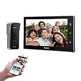TMEZON WLAN Video Türsprechanlage Türklingel Gegensprechanlage System, 10 Zoll WLAN Monitor mit...