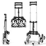 DREAMADE Faltbare Transportkarre mit Sternförmigen Rädern, Treppensteiger Sackkarre mit...