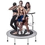 Indoor-Fitness-Trampoline Indoor Trampolin mit Griff 40 Zoll Klapp Home Gym elastisches Seil Stille...