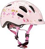 Abus Mädchen Smiley 2.0 Fahrradhelm, Rose Princess, 45-50 cm