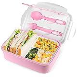 FENRIR Brotdose,Lunch Box Kinder,Bento Box Lunchbox mit 3 Fächern,Lebensmittelbehälter...