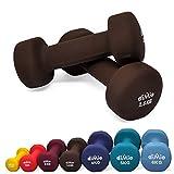 diMio 2,5 kg Neopren Gymnastik Hanteln im Doppelpack, Soft-Grip, fr Fitness, Ausdauertraining und...