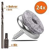 ECENCE 24Stck Filzgleiter mit Torx-Schrauben 20mm/0.79inch, Set aus Stuhlgleitern + Torxbit +...