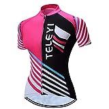 JPOJPO Fahrradtrikot für Damen, kurzärmelig, Fahrradjacke, Kleidung Gr. XXX-Large, schwarz/pink