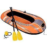Set Schlauchboot Kajak Angelboot Bootsset Inflatable Boat für 2 Personen Multi Luftkammer mit Griff...