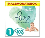 Pampers Pure Protection Windeln, Größe 1, 2-5 kg, Halbmonatsbox (1 x 102 Windeln), Mit...
