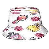 YZBEDSET Fischerhut,Vintage Parfüm Blumen Schönheit und Mode,Unisex Sonnenhut Bucket Hat Anglerhut...