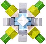 HABA 305461 - 3D-Legespiel Würfelmosaik Nordic, Holzbausteine in unterschiedlichen Formen und...