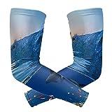 MONTOJ Zwei schöne Delphine Schwimmen Unterwasser Muster Sonnenschutz Ärmel Cover Up Arm Kühlende...