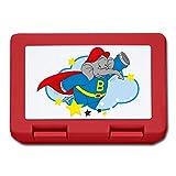 Benjamin Blümchen Superheld Beni Mit Cape Brotdose, Rot
