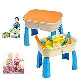 BONLL Sand und Wasserspieltisch mit Deckel - Enthält 9 Strandspielzeug-Platz für Sandwasser -...