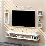 Schwimmdock Regal Wand- TV Schrank Regal-Set-Top-Box-Router DVD Storage Rack TV Hintergrund...