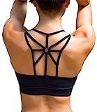 YIANNA Damen Sport BH Ohne Buegel Bequem Bustier Elastizität Fitness Yoga Sports Bra Crop Top mit...