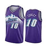 Conley #10 Jazz Basketball Trikots für Herren, Basketballtrikots Anzüge Kits Top + Shorts, Casual...