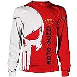 N/A-SHAOFA 3D Voll Drucken Hoodies,T-Shirt,Jacke Moto-Guzzi Punisher Herren Leicht Sweatshirt Unisex...