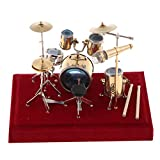 Shiwaki Miniatur Drum Set Kit Figur Modell Mini Musikinstrument Craft Decor
