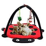 IUwnHceE Haustier-Katze-Spielzeug Bett Mobil Aktivität Spiel Bett Pad Blanket Haus
