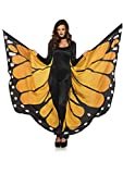 LEG AVENUE A2782 - Unisex Festival Schmetterlings-Flügel, Einheitsgröße, Orange