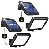 2 Stück Solarlampen für Außen, 56 LED Solarleuchten mit Bewegungsmelder Aussen IP65 Wasserdichte...