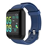 GeeRic Fitness Armband 116Plus mit Pulsmesser Blutdruckmessung Smartwatch Fitness Tracker...