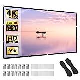 Beamer Leinwand 100 Zoll 16:9 HD Faltbarer Bildschirm für tragbare Anti-Falten-Projektionsfilme...