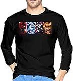 Thimd RWBY Herren Komfort Weiche Langarm Outdoor T-Shirt 100% Baumwolle Druck T-Shirts T-Shirt...
