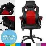 Gamer Stuhl Gaming Schreibtischstuhl Chefsessel Brostuhl Ergonomisch, Rot, 9 Farbvarianten,...