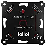 iolloi LED-Dimmer-Schalter, Unterputz Drehdimmer für Dimmbare LEDs und Halogen 3–100 W, Ohne...