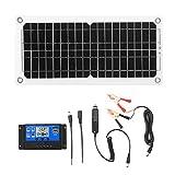 KKmoon 12W 12V Solarpanel Kit Monokristallines Solarmodul USB-Anschluss Panel Mono Solarzelle...